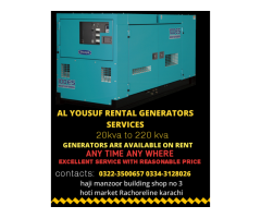 RENTAL GENERATORS SERVICES